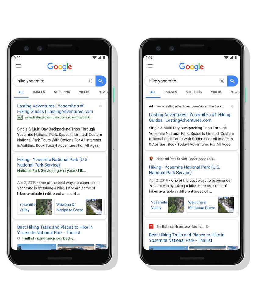 Иконка сайта в мобильной выдаче Google