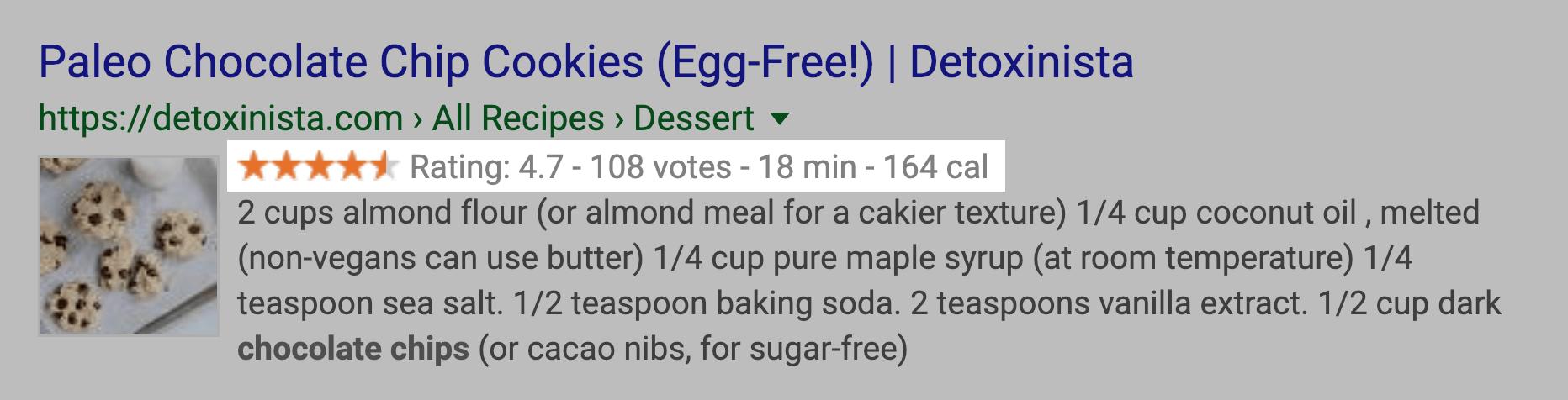 Разметка рецептов в Google